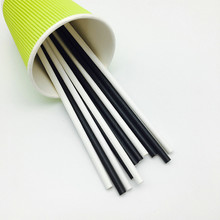 Plain Pure Solid Black Paper Drinking Straws for Wedding Birthday Party Holiday Halloween